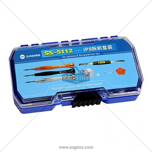 ست پیچ گوشتی و قاب باز کن 6 تکه SunShine SS-5112