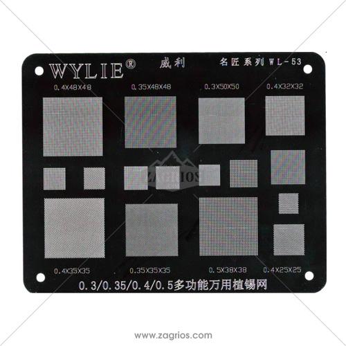 شابلون همه کاره و یونیورسال مدل Wylie WL-53