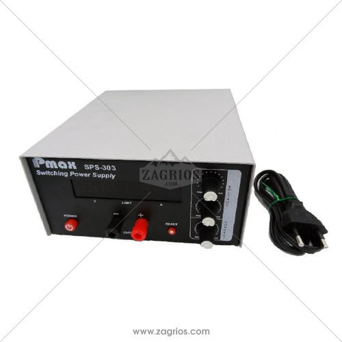 منبع تغذیه سویچینگ و اتوماتیک 30 ولت و 3 آمپر Pmax SPS-303