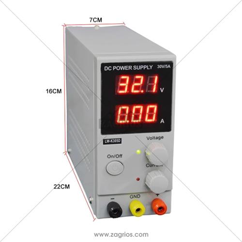 منبع تغذیه 30 ولت و 5 آمپر Longwei Electric LW-K305D