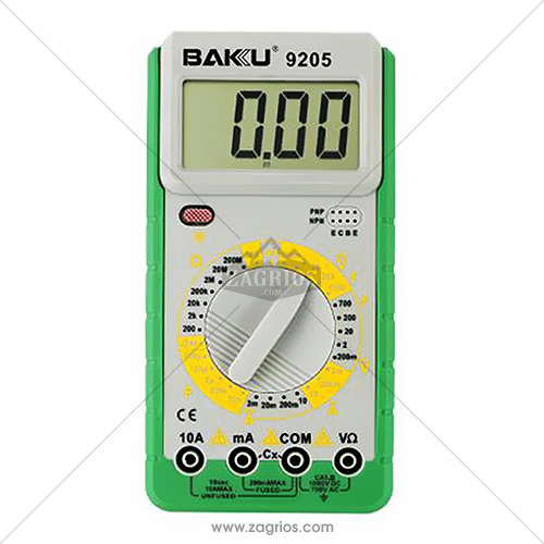 مولتی متر دیجیتال Baku 9205