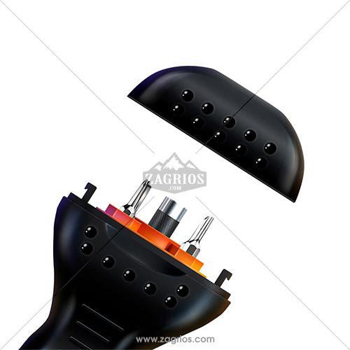 پیچ گوشتی 9 عددی مدل Jakemy JM-OP17